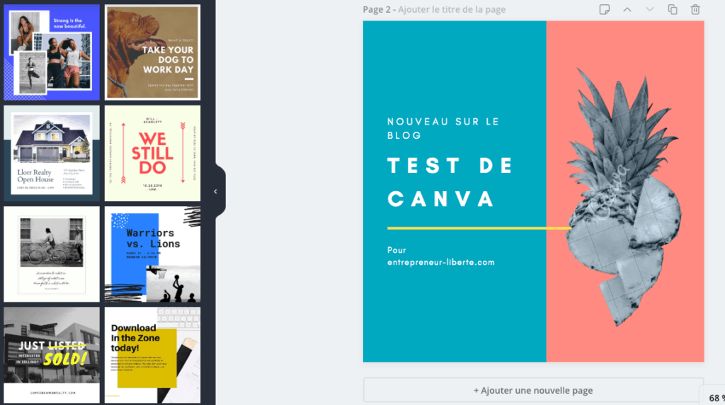 Canva : exemple