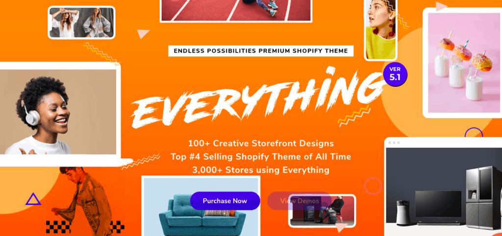 Everything, parmi les meilleurs thèmes shopify en 2019