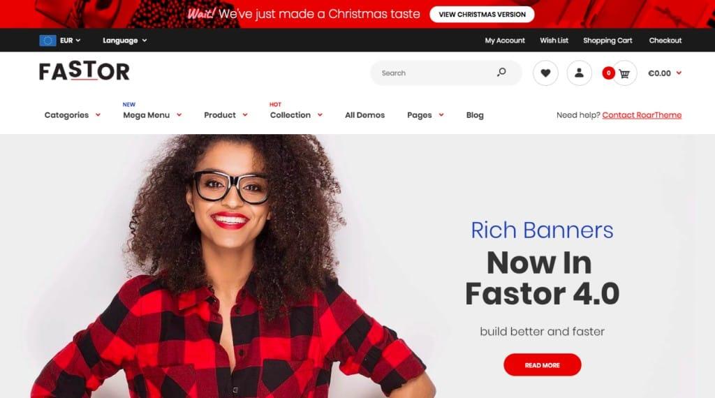 Fastor, parmi les meilleurs thèmes shopify en 2019