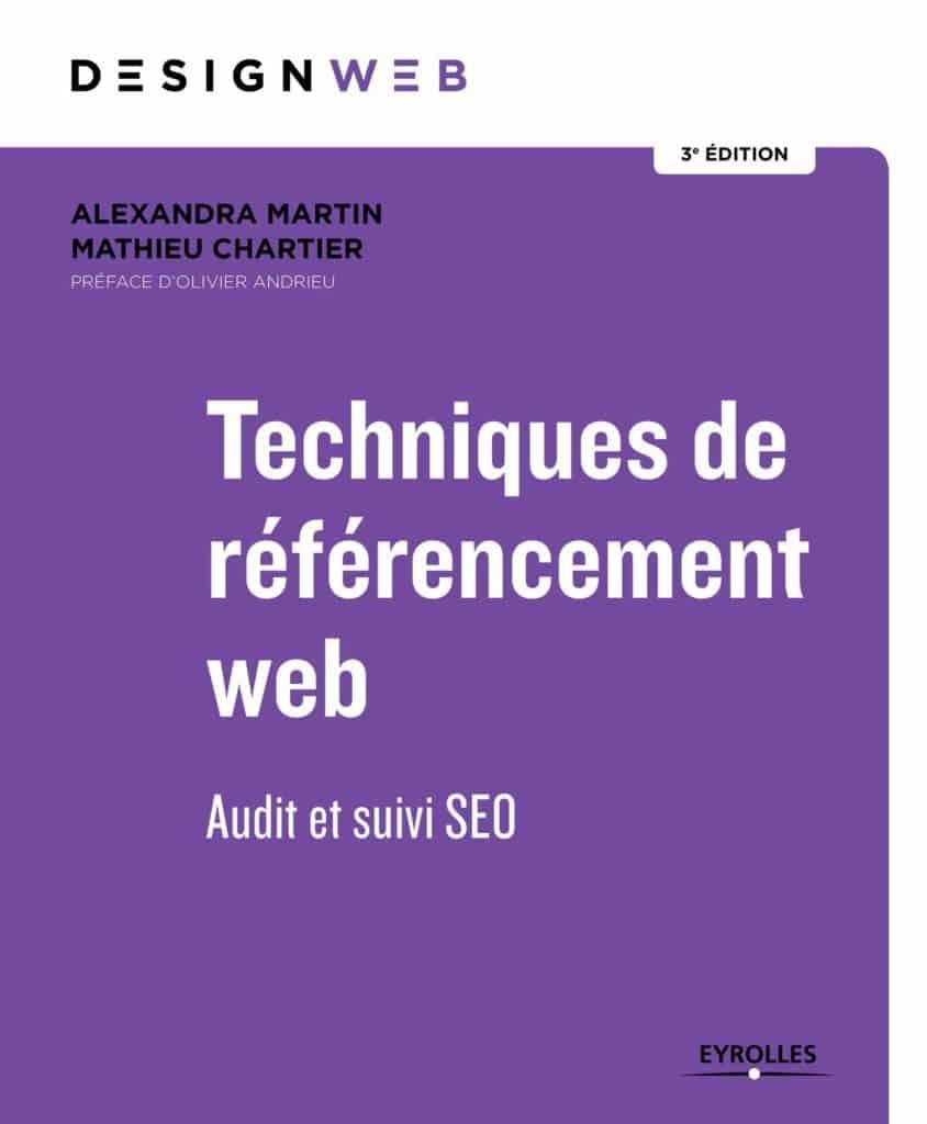 L'ouvrage d'Alexandra Martin et Mathieu Chartier fait partie des meilleurs livres SEO