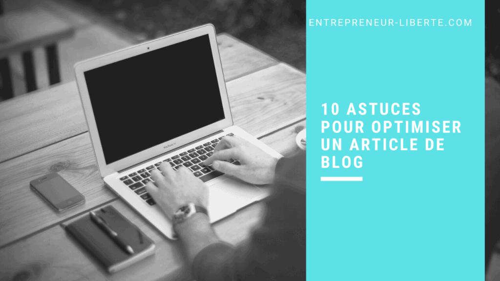 10 astuces pour optimiser un article de blog - erreurs SEO à ne plus commettre