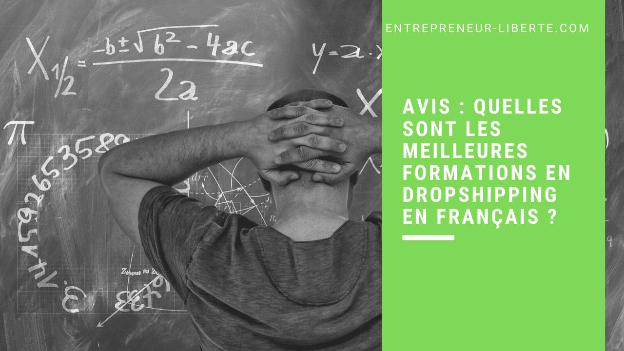 Avis : quelles sont les meilleures formations en dropshipping en français ?