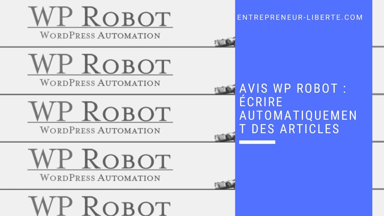 Avis WP Robot _ écrire automatiquement des articles