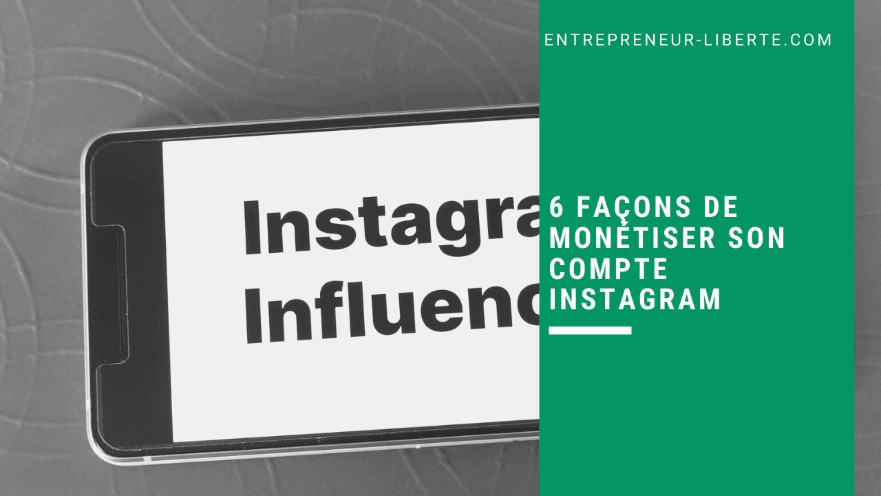 6 façons de monétiser son compte Instagram